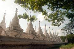 The 729 stupas known as the World's largest book in Myanmar. Stock Photography