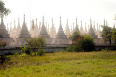 The 729 stupas known as the World's largest book in Myanmar. Stock Photo