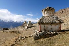 Stupas in Ladakh Royalty Free Stock Image