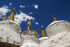 Stupas of Lamayuru Monastery in  Ladakh, India Stock Images