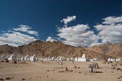 Stupas in Leh Immagine Stock