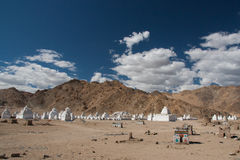 Stupas in Leh Stock Image