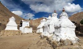 Stupas in Leh - Ladakh - India Royalty Free Stock Image