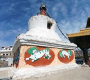 Stupas in Leh - Ladakh - Jammu and Kashmir Stock Photography