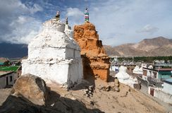 Stupas in Leh - Ladakh - Jammu and Kashmir Royalty Free Stock Photography