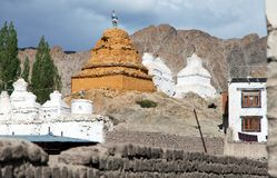 Stupas in Leh - Ladakh - Jammu and Kashmir Stock Images