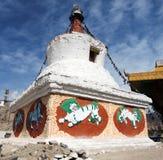 Stupas Leh - Ladakhr - in India Fotografia Stock Libera da Diritti
