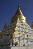 Stupas of Maha Aung Mye Bonzan Monastery (Inwa, Myanmar) Stock Photo
