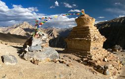Stupas in Murgum La Pass Stock Photos