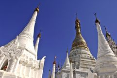 stupas myanmar озера inle Стоковое Изображение