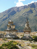 Stupas near Ngawal, Nepal Royalty Free Stock Photography
