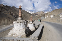 The stupas in Nubra valley, Leh Stock Image
