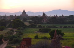 Stupas in Oude Bagan Royalty-vrije Stock Afbeelding