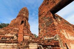 Stupas pagoda, pagoda sculpture of Buddha at Wat Worachet Temple Royalty Free Stock Image