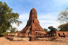 Stupas pagoda, pagoda sculpture of Buddha at Wat Worachet Temple Royalty Free Stock Photo