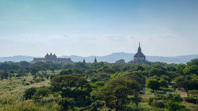 Stupas and pagodas of Bagan ancient. Royalty Free Stock Photography