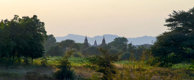 Stupas and pagodas of Bagan ancient. Stock Photography