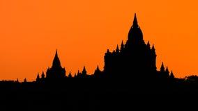 Stupas and pagodas of Bagan ancient. Royalty Free Stock Images