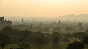 Stupas and pagodas of Bagan ancient. Myanmar Stock Photo