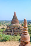 Stupas and pagodas of Bagan ancient. Myanmar Royalty Free Stock Photo