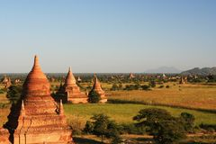 Stupas and Payas in Myanmar. Ancient  stupas and payas in Bagan (Myanmar Royalty Free Stock Photography