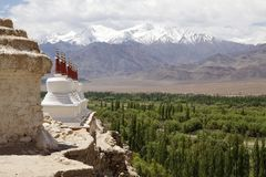 Stupas at the Shey Monastery, Ladakh, India Royalty Free Stock Photography