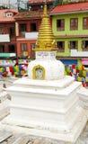 Stupas surrounding the main Swayambhunath Stupa, Nepal Stock Photo