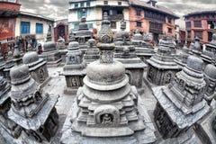 Stupas в Swayambhunath Стоковая Фотография RF