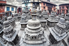 Stupas in Swayambhunath Royalty Free Stock Photography