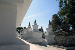 Stupas an Tashiding-Kloster Stockbild