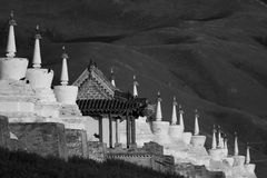 108 stupas of temple of Erdene Zuu Royalty Free Stock Photography