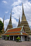 Stupas in Thailand. Stupas in Grand Palace in Bangkok Thailand Stock Photo