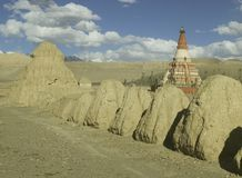Stupas in Tibet Stock Photo