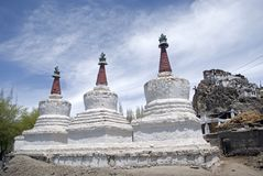 Stupas, Tiksey, Ladakh, India Royalty Free Stock Image