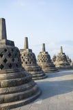 Stupas von Borobudur stockfotos