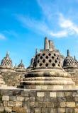 Stupas w Borobudur świątyni, Środkowy Jawa, Yogyakarta, Indonezja Zdjęcie Royalty Free