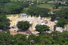 Stupas w Pindaya, Myanmar Zdjęcia Stock