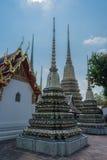 Stupas w Wacie Pho Kaew, Bangkok, Tajlandia obraz royalty free
