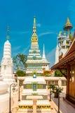 Stupas at Wat Intharawihan temple, Bangkok Royalty Free Stock Images
