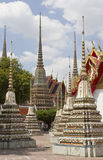 Stupas at Wat Pho Royalty Free Stock Photos