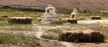 Stupas in Zanska valley Stock Images