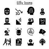 Stupid, foolish, Silly icon set. Vector illustration graphic design vector illustration