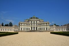 Stupinigi Palace in Turin, Italy. Stupinigi Palace , Hunting Residence , top attraction in Turin, Italy stock photography