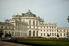 Stupinigi palace near Turin Royalty Free Stock Photo