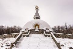 Stuppa Kroczy Petersburgh, NY - Grafton pokoju pagoda - Obraz Stock