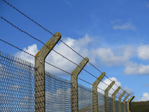 Sturdy concrete and wire fencing Stock Photography