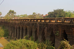 Sturdy corbeled arches of  Angkor bridge, Stock Photos