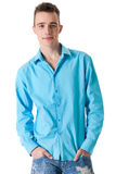Sturdy guy with his blouse stock photography