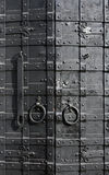 Sturdy metal door Stock Photo