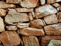Sturdy old wall. A solid old wall made of stone blocks Royalty Free Stock Photos